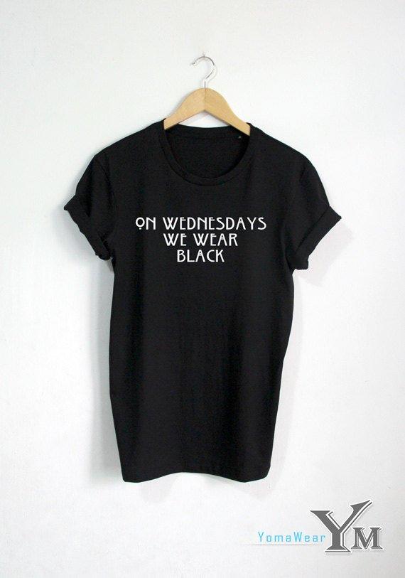 fac138149 On Wednesday We Wear Black shirt Funny T-shirt OOTD Fashion Hipster Unisex  tshirt tumblr Pinterest
