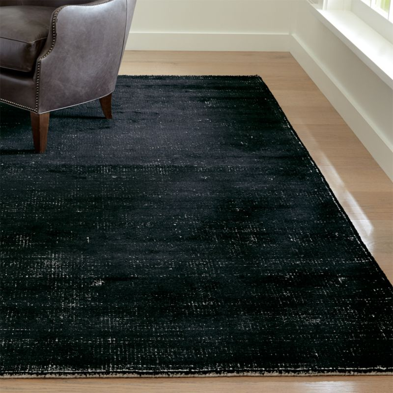 Vaughn Modern Black Rug Crate And Barrel In 2020 Black Rug Buying Carpet Rugs