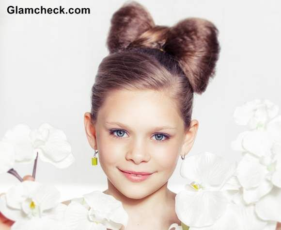 Hairstyles For Little Girls little girl hairstyle french braid pony tail curls high pony volumized pony hair blonde platinum Little Girls Hairstyle Cute Hair Bow Tutorial
