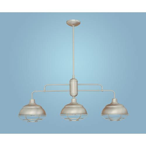 Millennium Lighting NeoIndustrial Satin Nickel ThreeLight Island - Three light island pendant