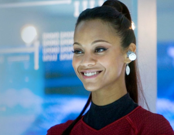 zoe saldana as uhura in the star trek movie into darkness screen shot 2013 03 11 at. Black Bedroom Furniture Sets. Home Design Ideas