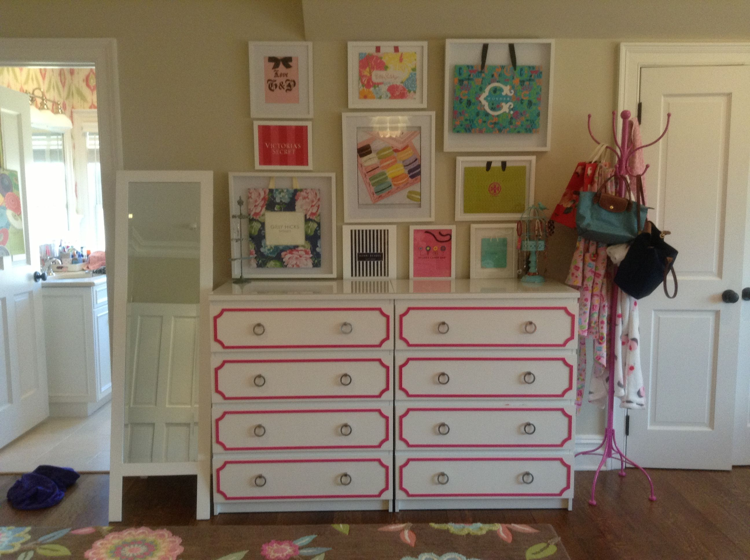 Ikea Malm Dressers With Hot Pink Overlays And Hardware Gallery