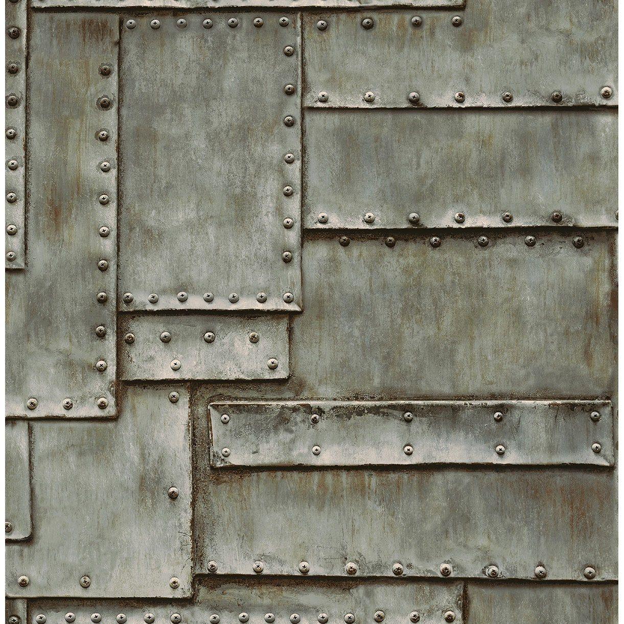 Papier Peint Vinyle 3d Patch De Tole Gris V 2020 G Metallicheskie Oboi List Metalla Tekstury Kraski