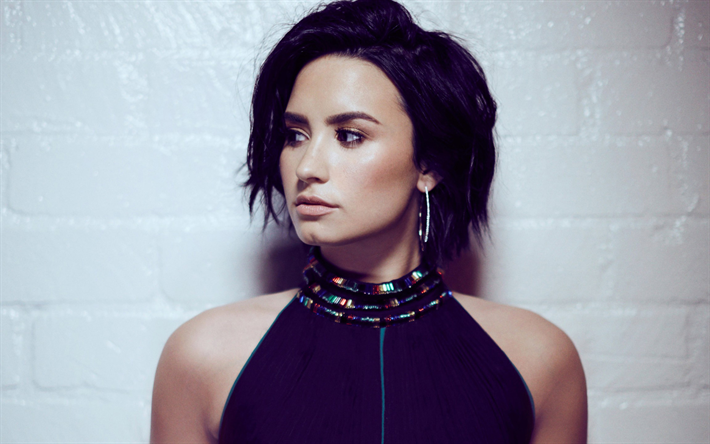 Download Wallpapers Demi Lovato, American Singer, Portrait