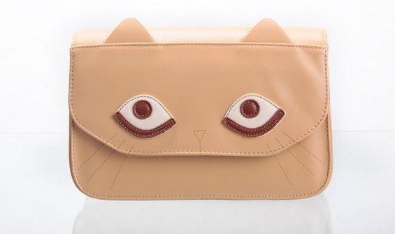 Cute Cat Face Ear Shoulder Bag Handbag Purse