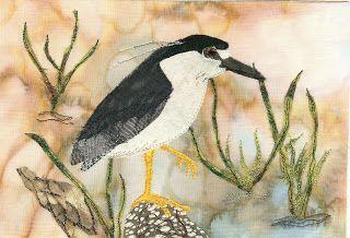 Vivika DeNegre Art Quilts: Creeping Night Heron