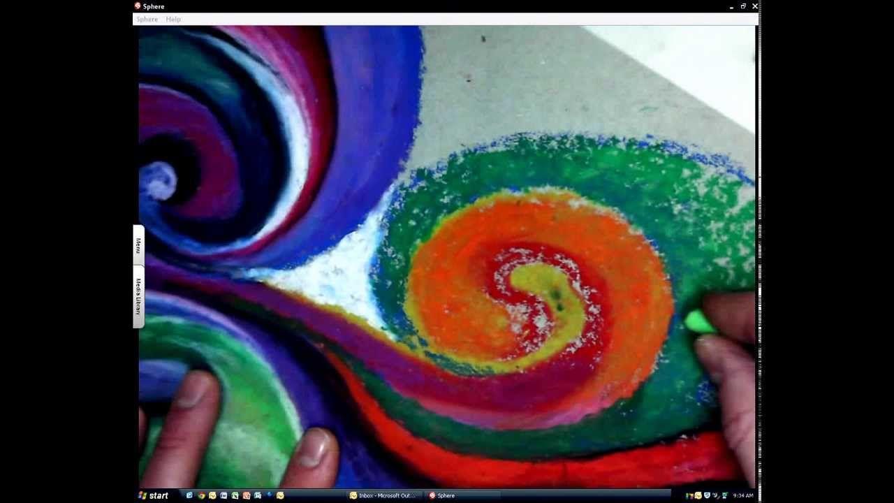 Oil Pastel Zen PART 2 - Rule of 3\'s   K-12: Oil Pastels+   Pinterest