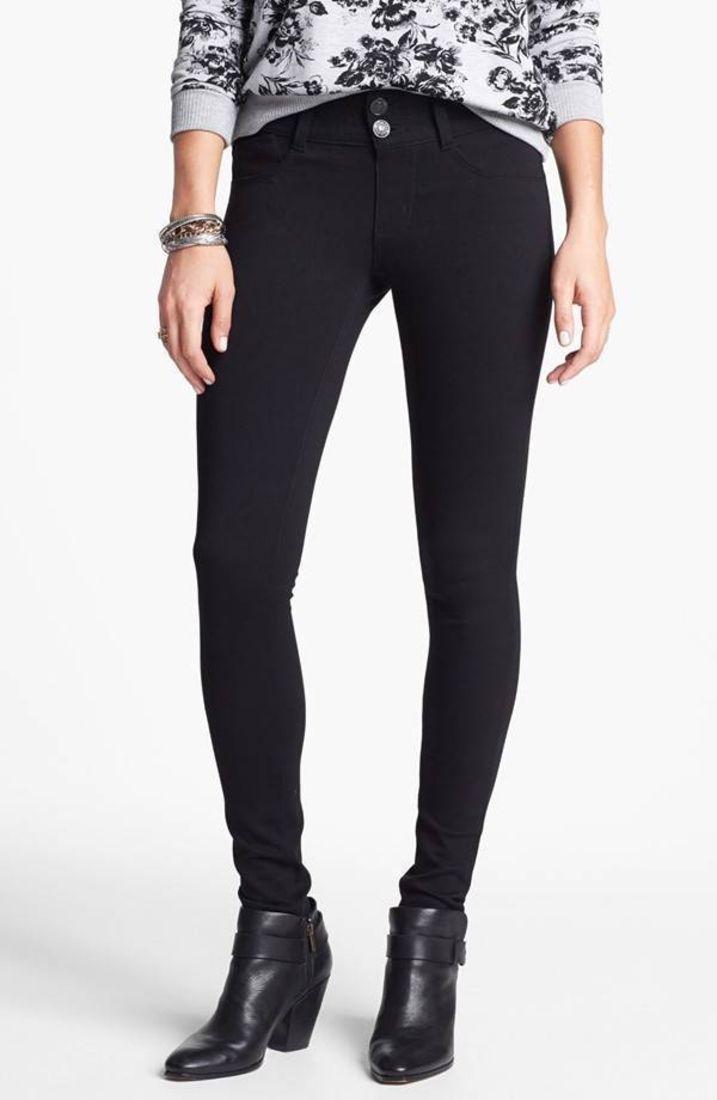 f1a1e6e364285 Jolt Black Ponte Skinny Pants Leggings Jeggings Size 11 Juniors FTC #3416