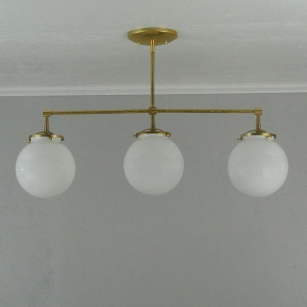 Straight triple globe chandelier pepe carols