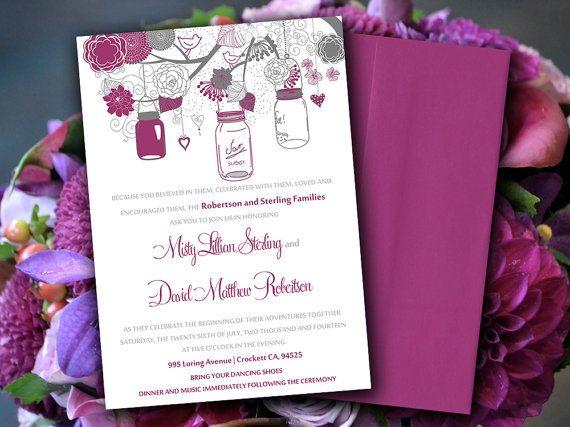 DIY Wedding Invitation Template - Microsoft Word - Love Bird - invitation template microsoft word