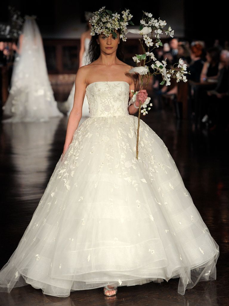 Rockabilly wedding dresses  Reem Acra Spring  Dreamy Ethereal Wedding Dresses  TheKnot