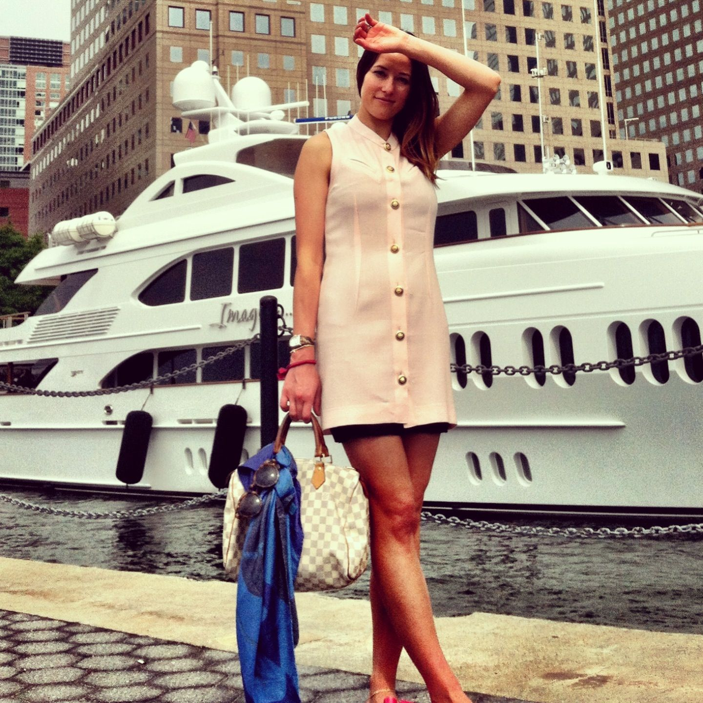 Eurotrash by Nicki Dapelo wool Jackie O. dress in Blush. Special orders at Eurotrashfemme@gmail.com