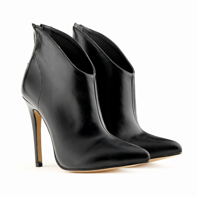 28.38$  Buy here - http://alif7g.shopchina.info/go.php?t=32680386711 - Back zip 11cm Stiletto Women's Boots New Arrivel Fashion 11 cm Point Toe Spring Autumn Winter Hot sales Shoes Femma Chaussure 42 28.38$ #bestbuy