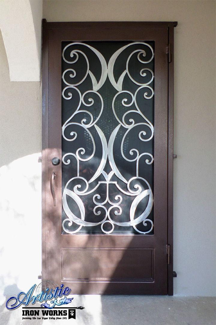 Glasgow - Wrought Iron Security Door Model: SD0132B ...