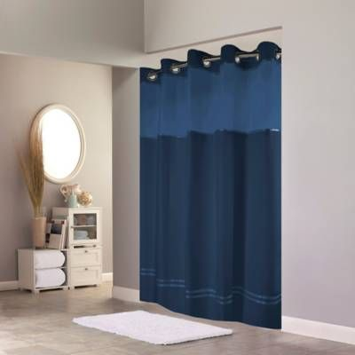 Product Image For Hookless Escape Fabric Shower Curtain And