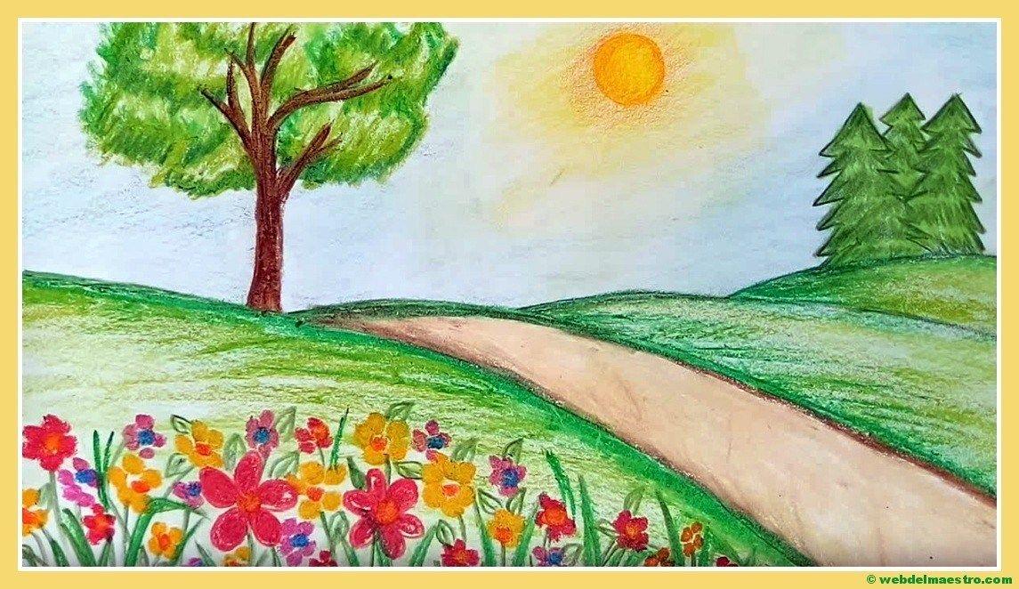 Paisajes Faciles De Dibujar Web Del Maestro Paisajes Dibujos Pinturas De Paisajes Faciles Dibujos Faciles