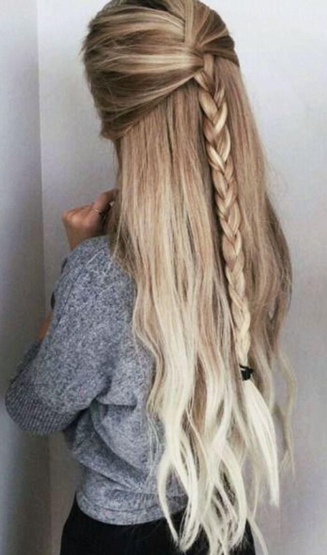 Nette einfache Party-Frisuren für langes starkes Haar für Schule