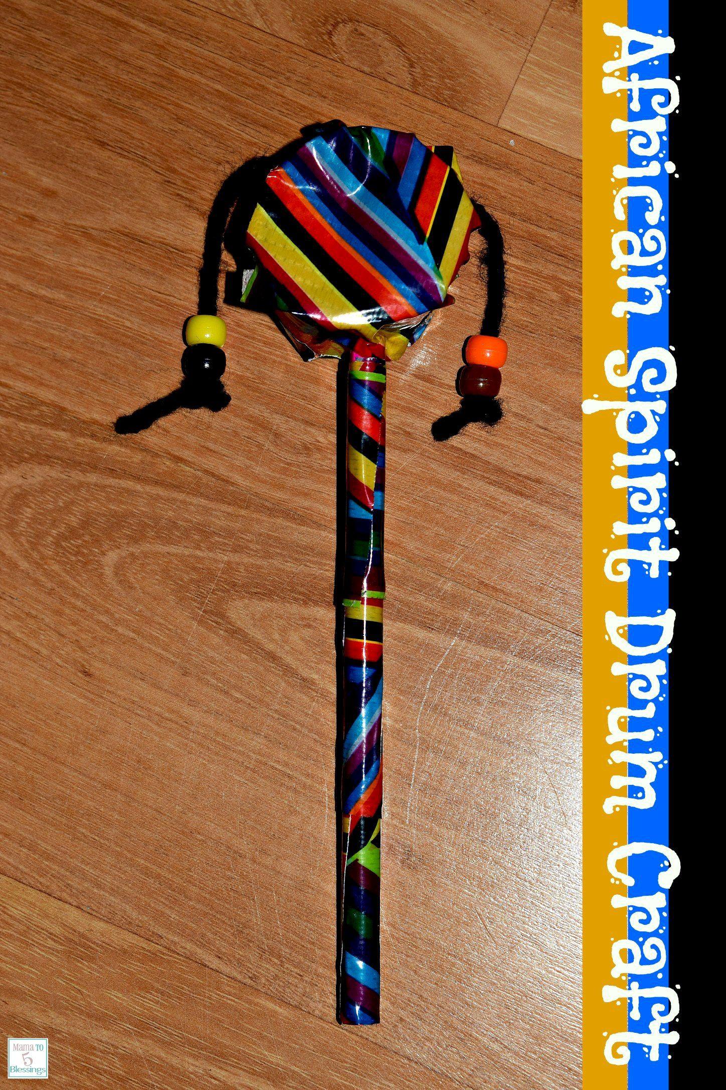 African Spirit Drum Craft Homeschool Geography Lesson