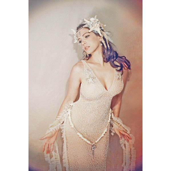 Mermaid Starfish Shell Sea Nymph Dress Costume Ball Party Cosplay... ($465) ❤ liked on Polyvore