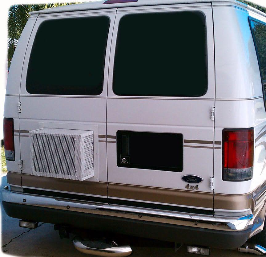 Diy A C Window Unit In Rear Van Door Expedition Portal