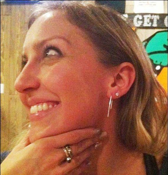 Photo of Sterling Silver Threader Earrings – Minimalist Jewelry – High Low Earrings – Modern Jewelry – Hook Earrings – Bar Earrings
