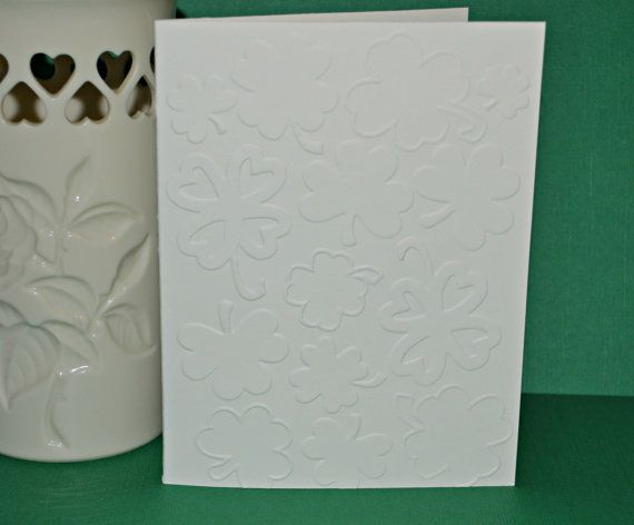 Set of 4 Embossed St. Patrick's Cards / by MoreFriendsAndCo, $3.99