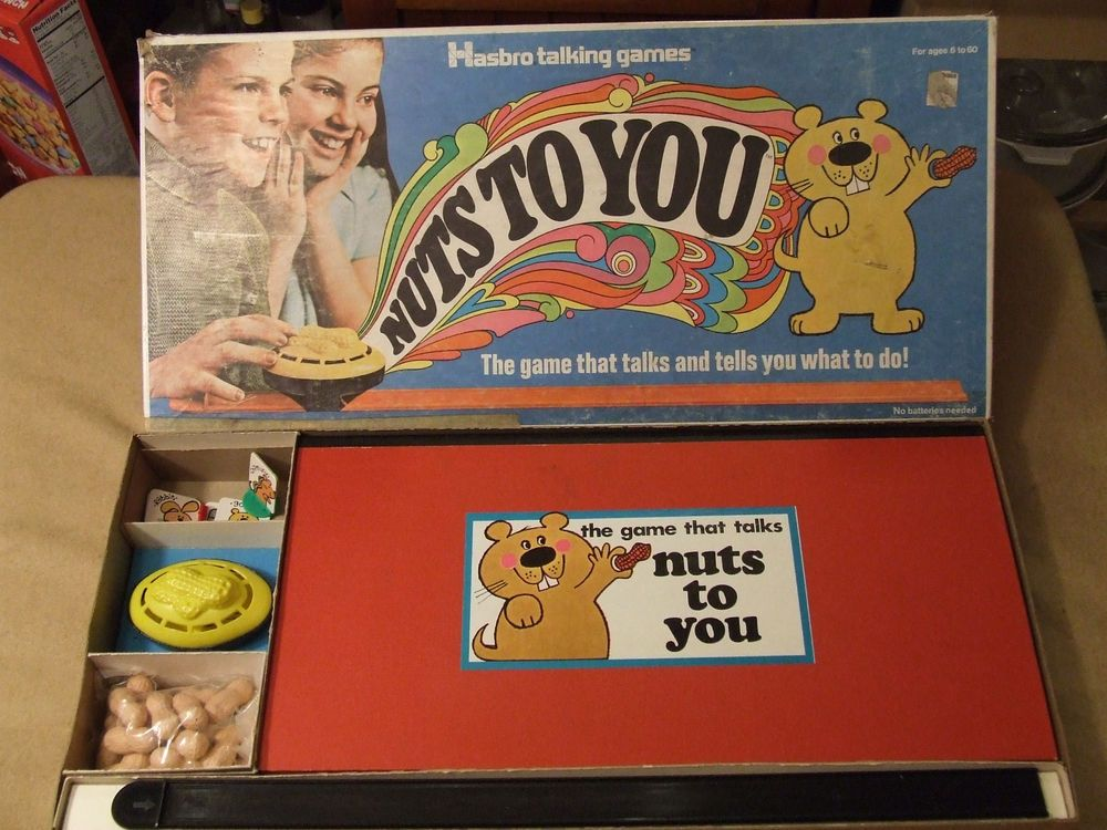 Nuts to You 1969 Vintage Hasbro Games Family Board Game
