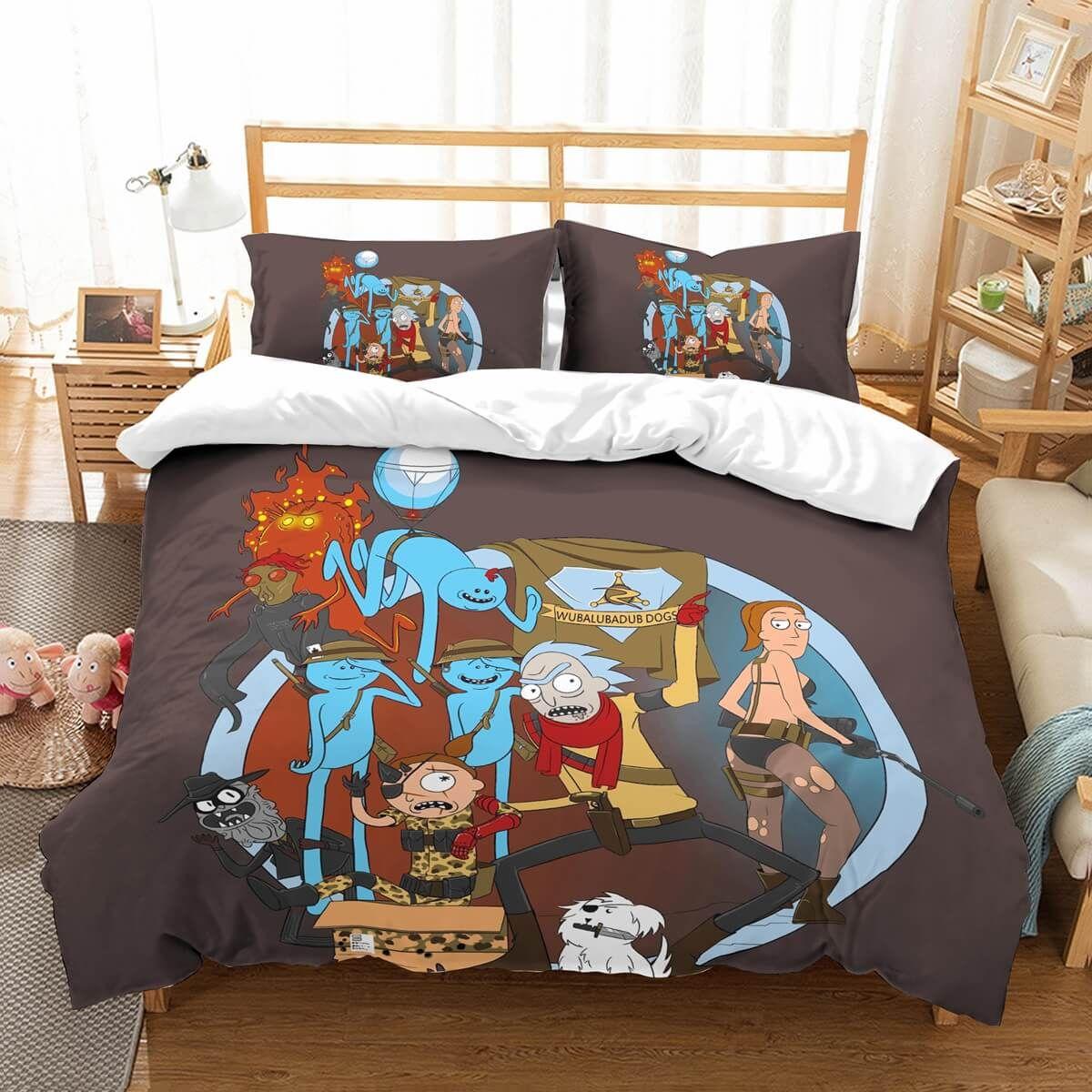 3D Customize Rick And Morty Bedding Set Duvet Cover Set