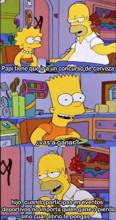 Solo Importa Cuan Ebrio Te Pongas Memes De Los Simpson Los Simpsons Los Simpson