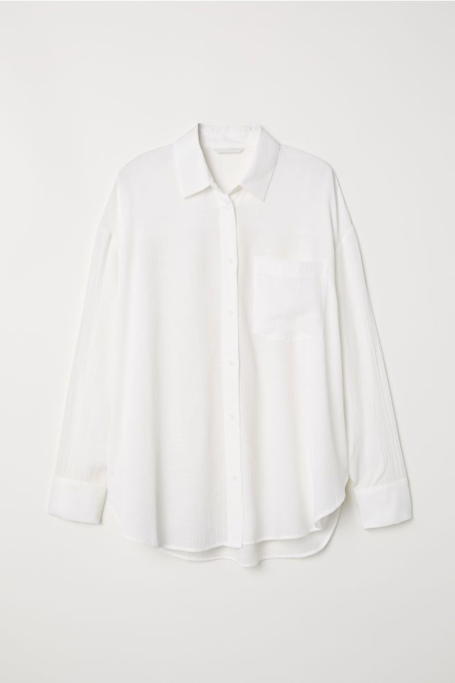 ad55f8c354d Viskoseblandet skjorte | My pieces | White shirts women, Shirts og ...