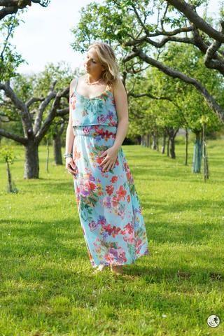 eBook - Nähen - Damen - Top/Shirt/Tunik/Kleid - Maria - Schnittgeflüster - Sommer - Chiffon - Azul - Glückpunkt.