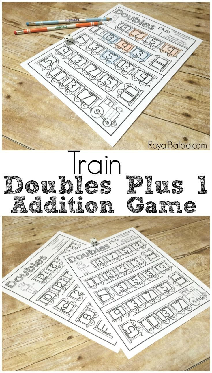 Fun Addition Fact Practice - Train Doubles Plus 1 | Addition facts ...