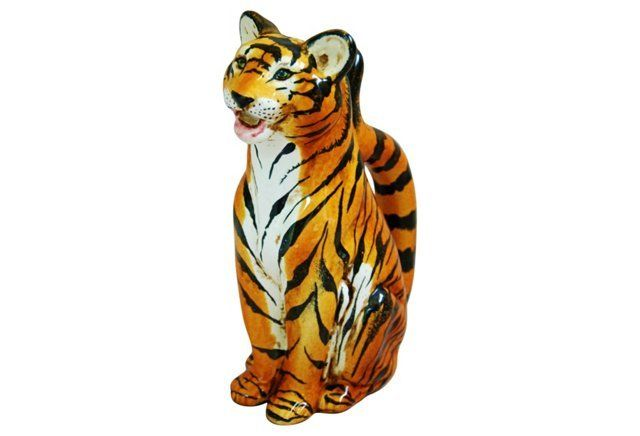 Midcentury Italian Tiger Water Pitcher