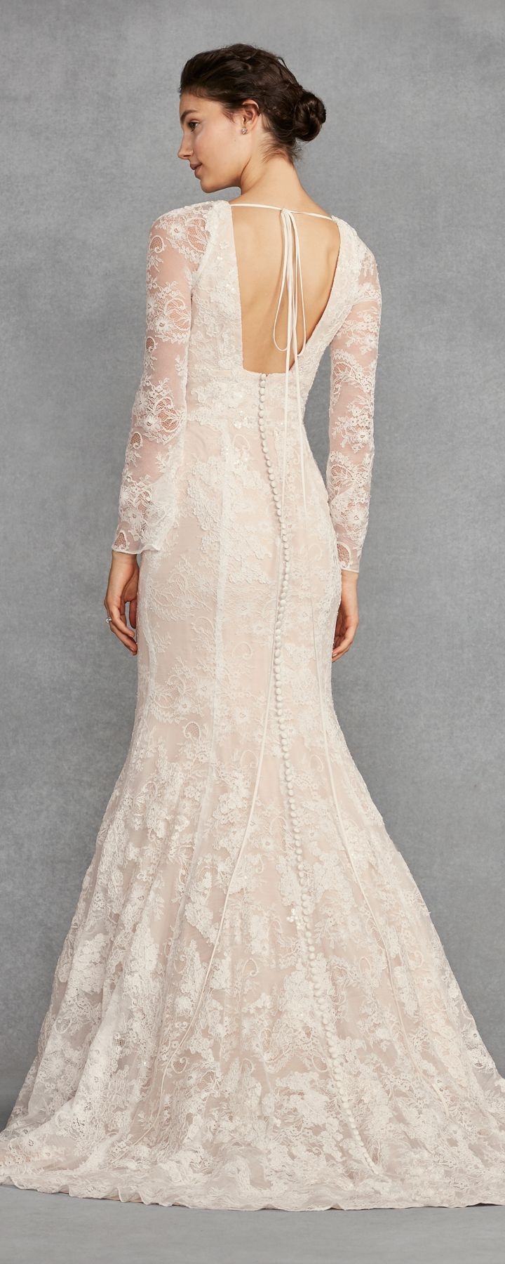 White by Vera Wang Bell Sleeve Lace Wedding Dress #weddings #dresses ...