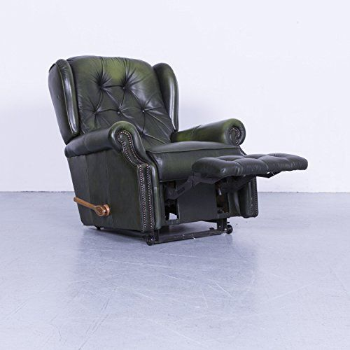 La Z Boy Chesterfield Leder Sessel Grun Einsitzer Stuhl