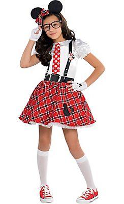 diy halloween girls minnie mouse nerd costume