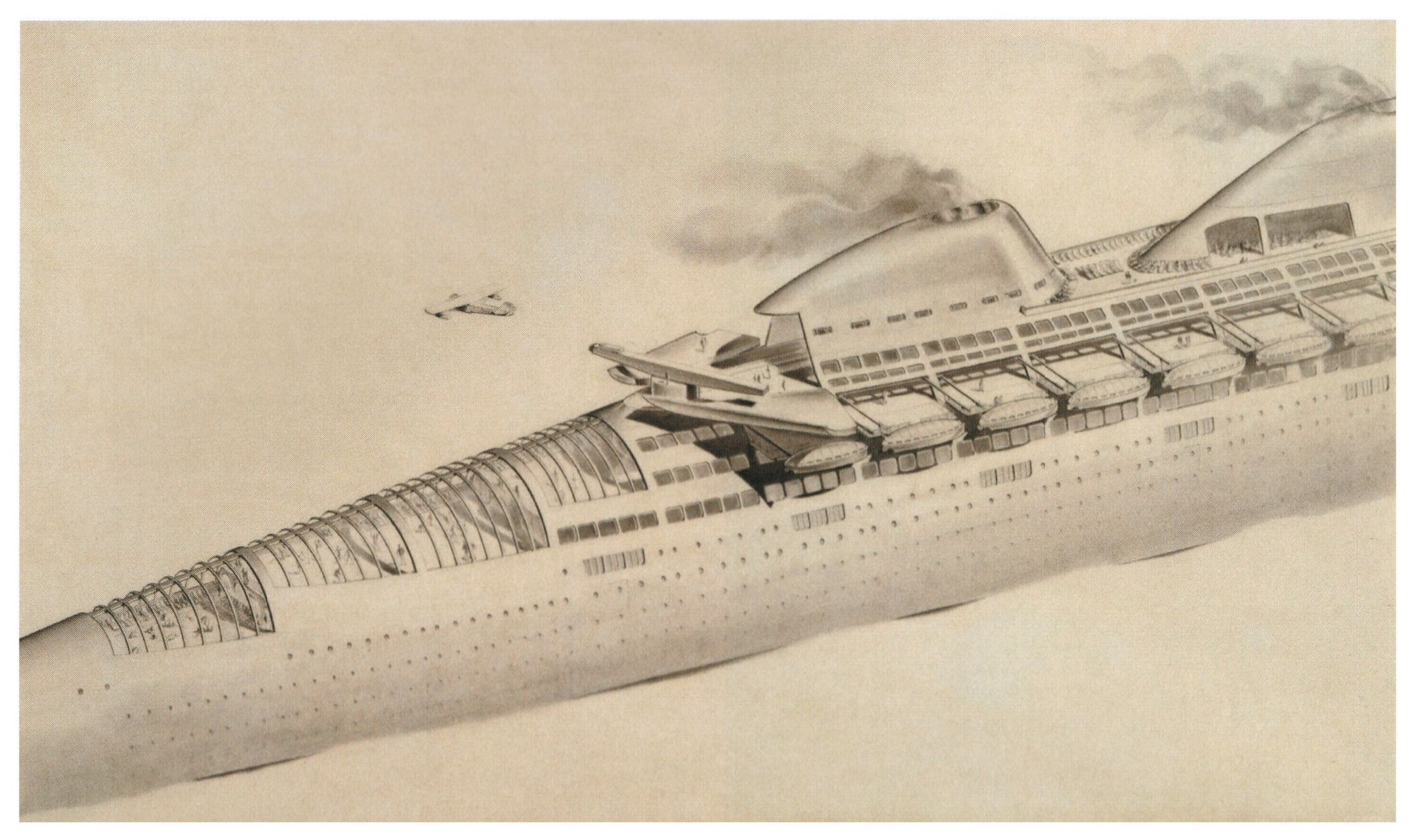 1939 futuristic cruise ship design by Norman Bel Geddes | Vehicles ...