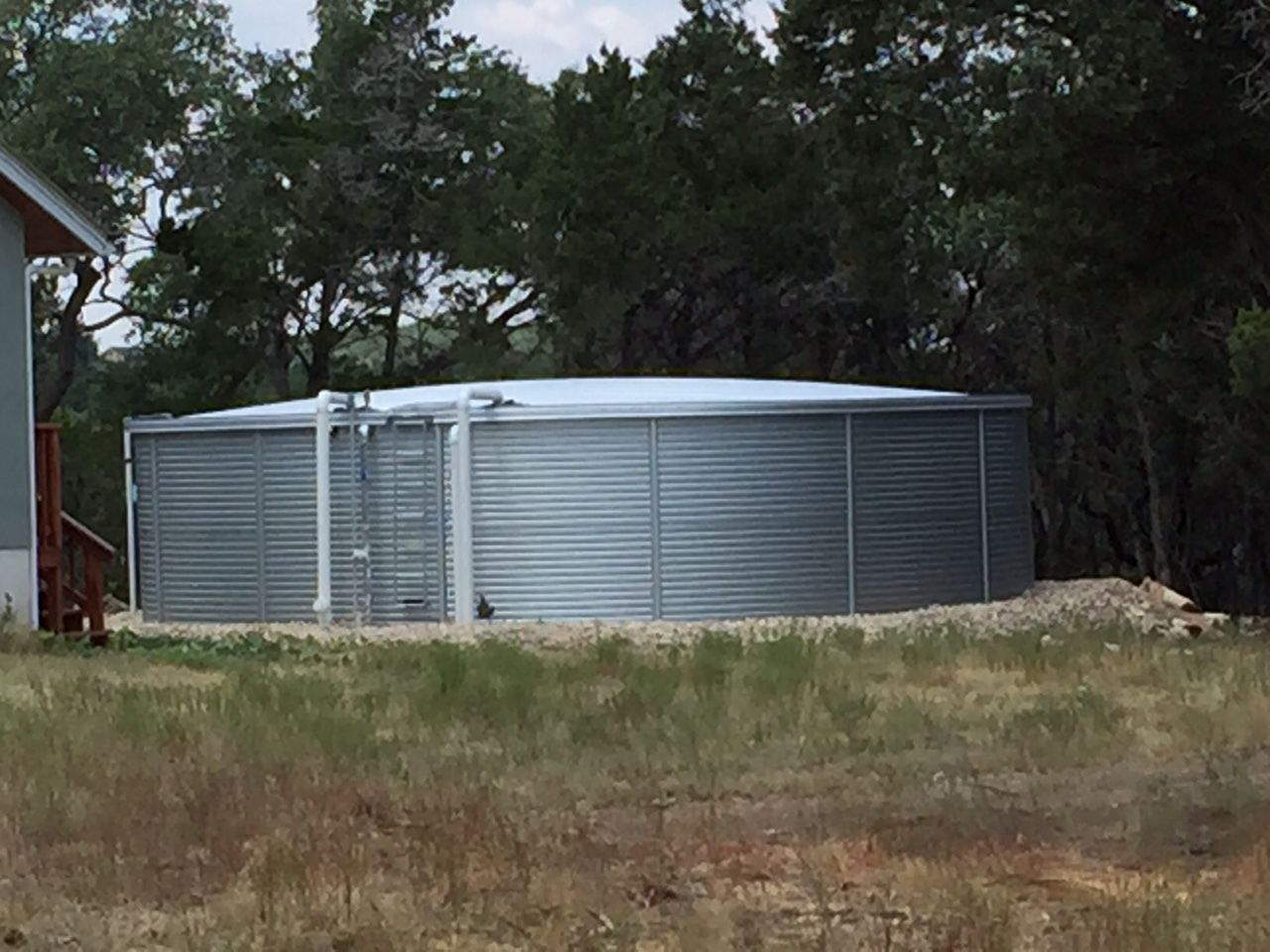 A 40 000 Whole House Rainwater Collection Tank Located In Terrascena Dripping Spr Rain Water Collection Rain Water Collection System Rain Water Collection Diy