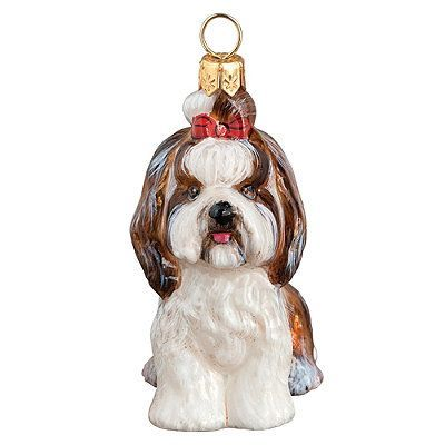 Shih Tzu With Top Knot Dog Ornament - Frontgate Products - frontgate halloween