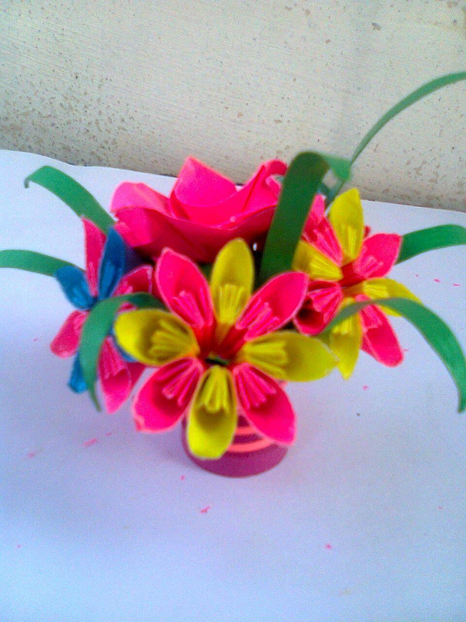 3d Origami Flower Pot 3d Origami Arts Pinterest 3d Origami