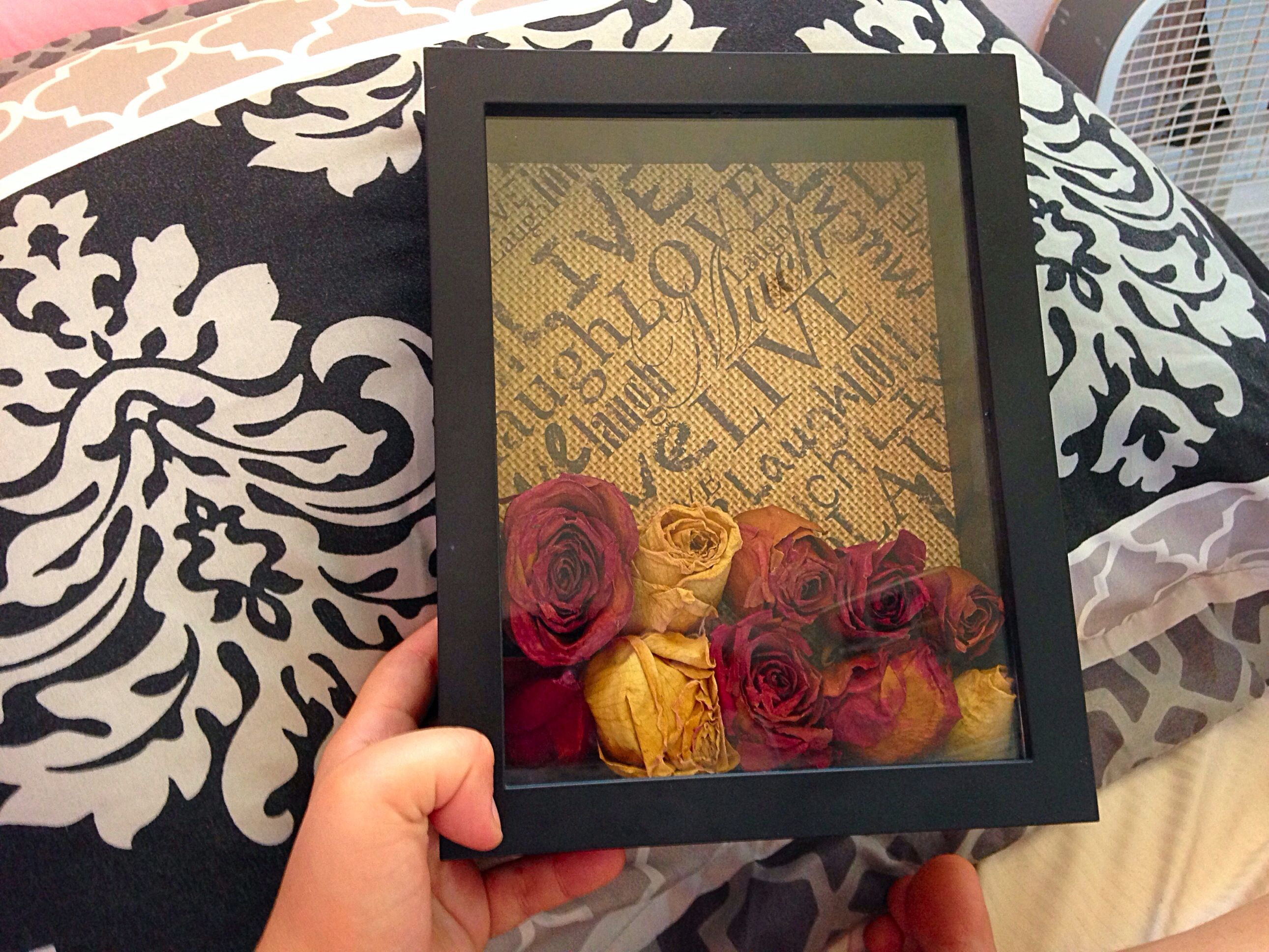 Really Awesome Way To Keep Flowers Shadow Box Dried Roses