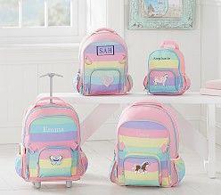 Fairfax Pink Multi Stripe Backpack