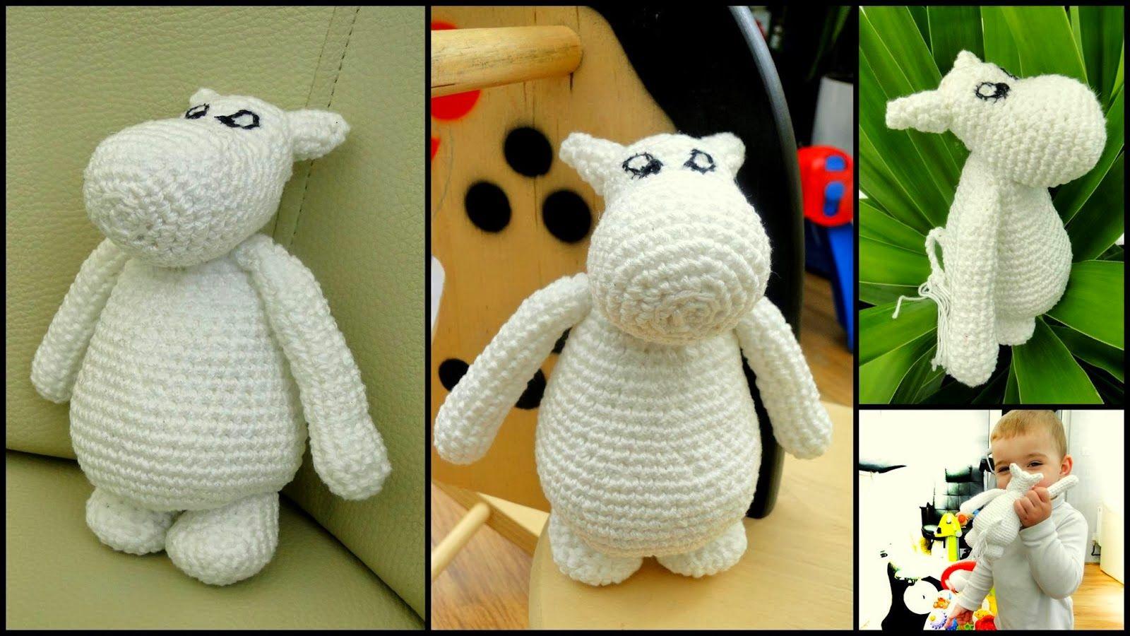 Free crochet Moomin Toy Pattern http://3rabbitspatterns.blogspot.co ...