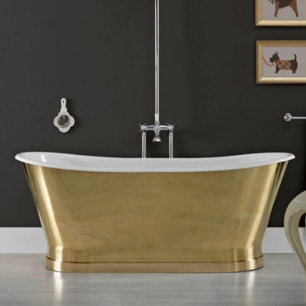 Radison Messing Badekar, Støbejern/Messing - Badekaret måler 1.700 x 680 mm | Bredt udvalg af badekar kan købes billigt online hos VillaHus.com
