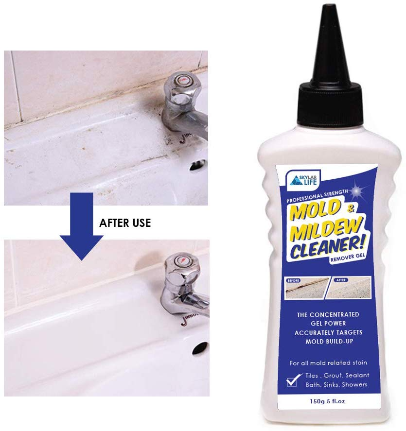 Amazon Com Skylarlife Home Mold Mildew Remover Gel Stain Remover Cleaner Wall Mold Cleaner For Tiles Grout Sealant Bath Sinks S Cleaning Mold Mildew Remover Cleaning Walls