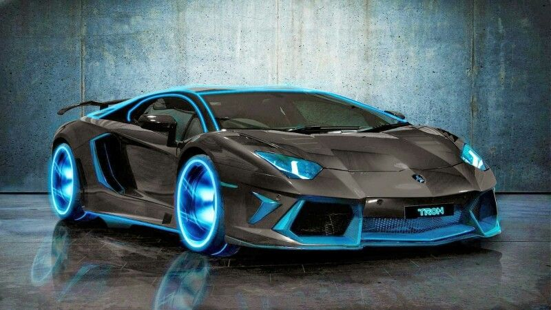 A Neon Blue Lamborghini That Is Awesome Luxury Toys Lamborghini