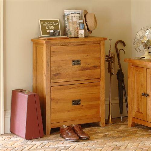 Cottage Oak Shoe Storage Cupboard & Cottage Oak Shoe Storage Cupboard   Cupboard Shoe storage cupboard ...