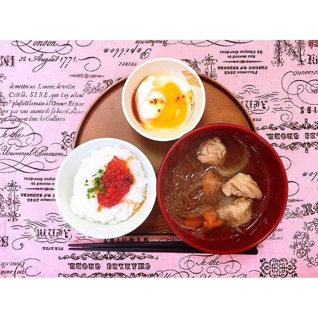 xolovealisahime#homecooking#homemade#instafood#foodie#おうちごはん#ひとりごはん#自炊#お粥#春雨スープ#allyskitchen♡