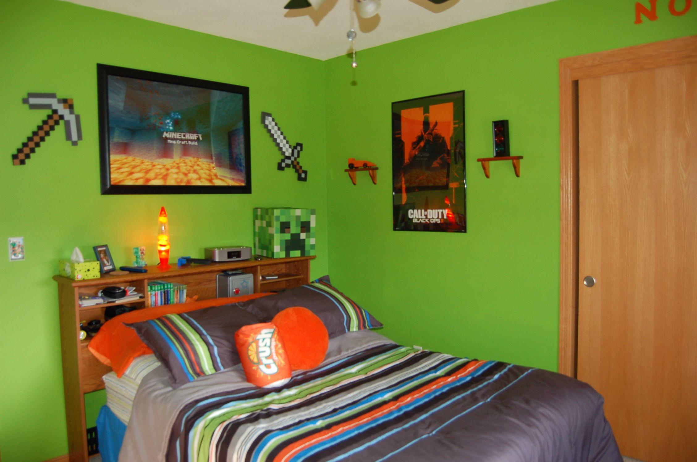 Minecraft Ballet Bedroom, Minecraft Room, My Boys, Boy Room, Kids Bedroom,