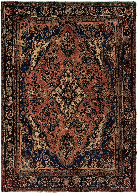 Peach 6 6 X 9 2 Hamedan Persian Rug Persian Rugs Esalerugs Persian Rug Rugs Persian